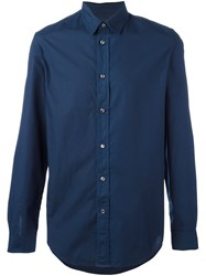 Maison Martin Margiela Classic Long Sleeve Shirt Blue