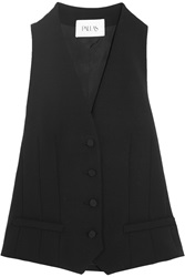 Pallas Hadar Wool Gabardine And Satin Vest