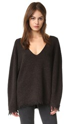 Free People Irresistible V Neck Sweater Black
