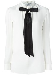 Valentino Pussy Bow Blouse White