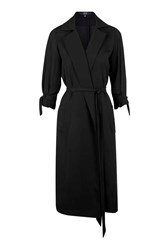 Tear It Down Black Chiffon Trench Coat By Goldie