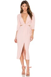 Becandbridge Slim Dusty Twist Dress Rose