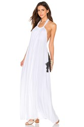 Michael Lauren French Halter Maxi Dress White