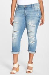 Lucky Brand 'Reese' Boyfriend Distressed Jeans San Marcos Plus Size