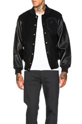 Opening Ceremony Excusive Blackout Varsity Jacket In Black