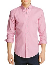 Boss Rodney Gingham Slim Fit Button Down Shirt Pink