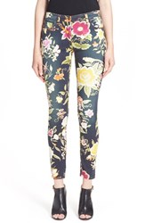 Women's Etro Floral Print Skinny Fit Stretch Cotton Jeans