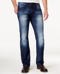 Buffalo David Bitton Men's Relaxed Fit Driven X Jeans Distressed Bright Blue