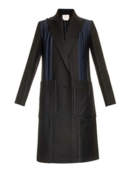 Edun Quilted Detail Wool Blend Coat