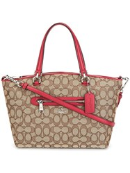 Coach Printed Tote Brown