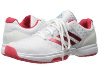 Adidas Adizero Ubersonic 2 White Ray Red Clear Grey Women's Tennis Shoes
