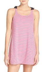 Kate Spade Women's New York Stripe Cotton Blend Chemise Classic Stripe Sweetheart Pink