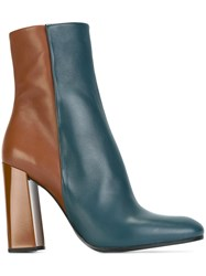 Jil Sander Bicolour Booties Blue