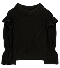 Burberry Wool And Cashmere Sweater Black