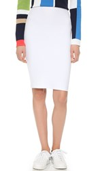 Dsquared Knit Pencil Skirt White