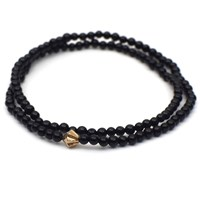Esenelle Ezra Bracelet Black Rose Gold