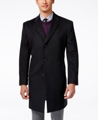 Kenneth Cole Reaction Raburn Wool Blend Over Coat Slim Fit Charcoal