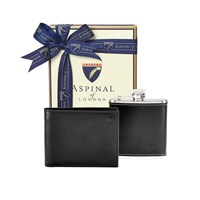 Aspinal Of London Mens Wallet Gift Set Black