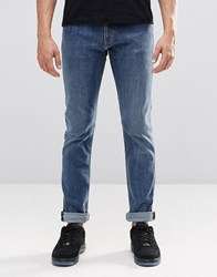 Weekday Friday Skinny Jeans Average Blue Average Blue 75 101