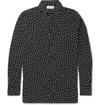 Saint Laurent Polka Dot Voile Shirt Black