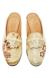 Stubbs And Wootton M'o Exclusive Minnie Valencia Quartz Mule Gold