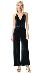 Free People Rumpled Velvet Jumpsuit Blue