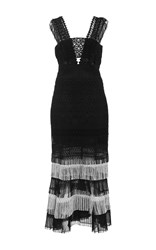 Jonathan Simkhai Fringe Bandeau Dress Black