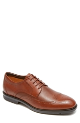 Rockport City Smart Wing Tip Oxford Tan Smooth Scotch Grain