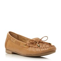 Dune Goff Woven Moccasin Loafers Tan