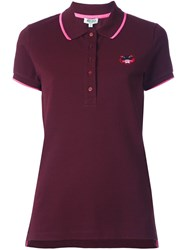 Kenzo 'Tiger' Polo Shirt Pink And Purple