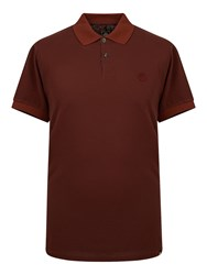 Pretty Green Men's Turner Plain Polo Burgundy