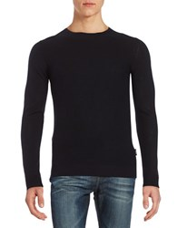 Strellson Textured Crewneck Sweater Black