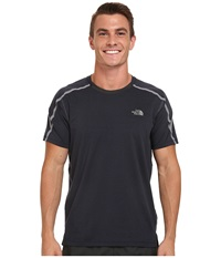 The North Face Kilowatt Short Sleeve Crew Shirt Cosmic Blue Heather Asphalt Grey Men's T Shirt