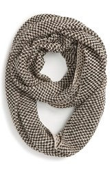 Women's Sole Society Two Tone Knit Infinity Scarf Black