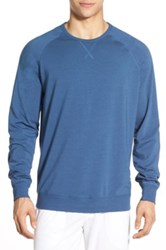 Daniel Buchler Long Sleeve Cotton And Modal T Shirt Blue