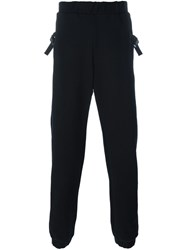 Marcelo Burlon County Of Milan Buckled Strap Detail Track Pants Black
