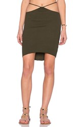 Indah Bridgette Cutout Mini Skirt Green