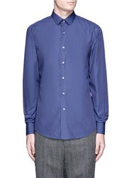 Lanvin Grosgrain Ribbon Placket Shirt Blue
