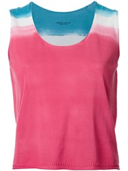 Roberto Collina Tri Tone Knit Tank Pink And Purple