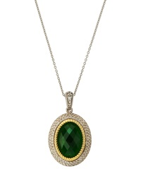 Jude Frances Dark Green Quartz Pendant Necklace