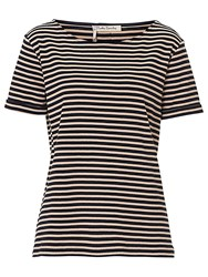 Betty Barclay Striped T Shirt Dark Blue Camel