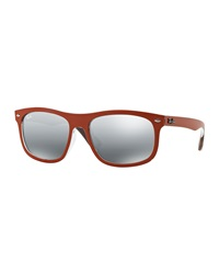 New Wayfarer Mirrored Sunglasses Orange Ray Ban