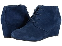 Vionic Elevated Becca Wedge Lace Up Navy Women's Wedge Shoes
