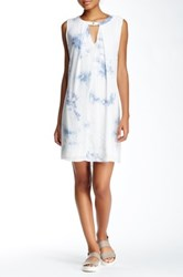 On Twelfth Tie Dye Keyhole Dress White
