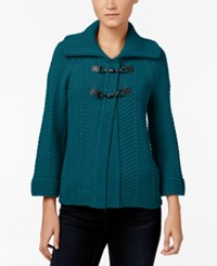 Jm Collection Toggle Cardigan Only At Macy's Teal Abyss