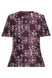 Mary Katrantzou Jacquard Peplum Top