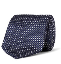 Tom Ford 7Cm Silk Jacquard Tie Navy