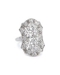 Durland Co. Estate Edwardian Diamond Filigree Dinner Ring