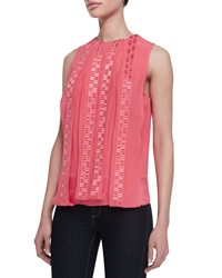 Robert Rodriguez Kuba Embroidered Silk Top
