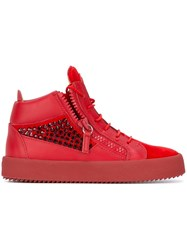 Giuseppe Zanotti Design 'Kendall' Mid Top Sneakers Red